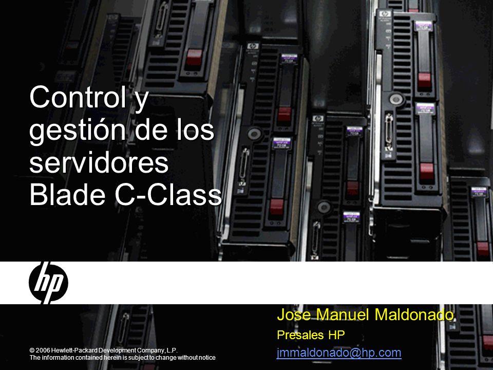 Control y gestión de los servidores Blade C-Class