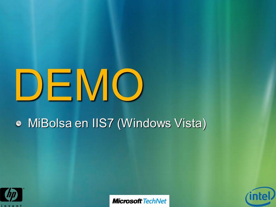 DEMO MiBolsa en IIS7 (Windows Vista)