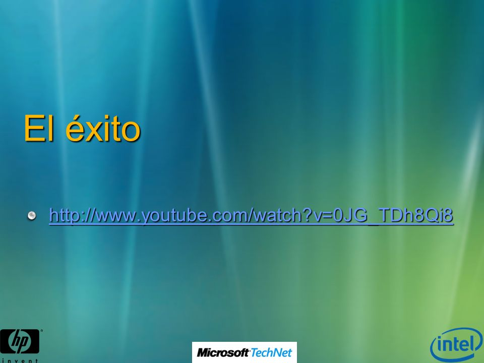 El éxito http://www.youtube.com/watch v=0JG_TDh8Qi8