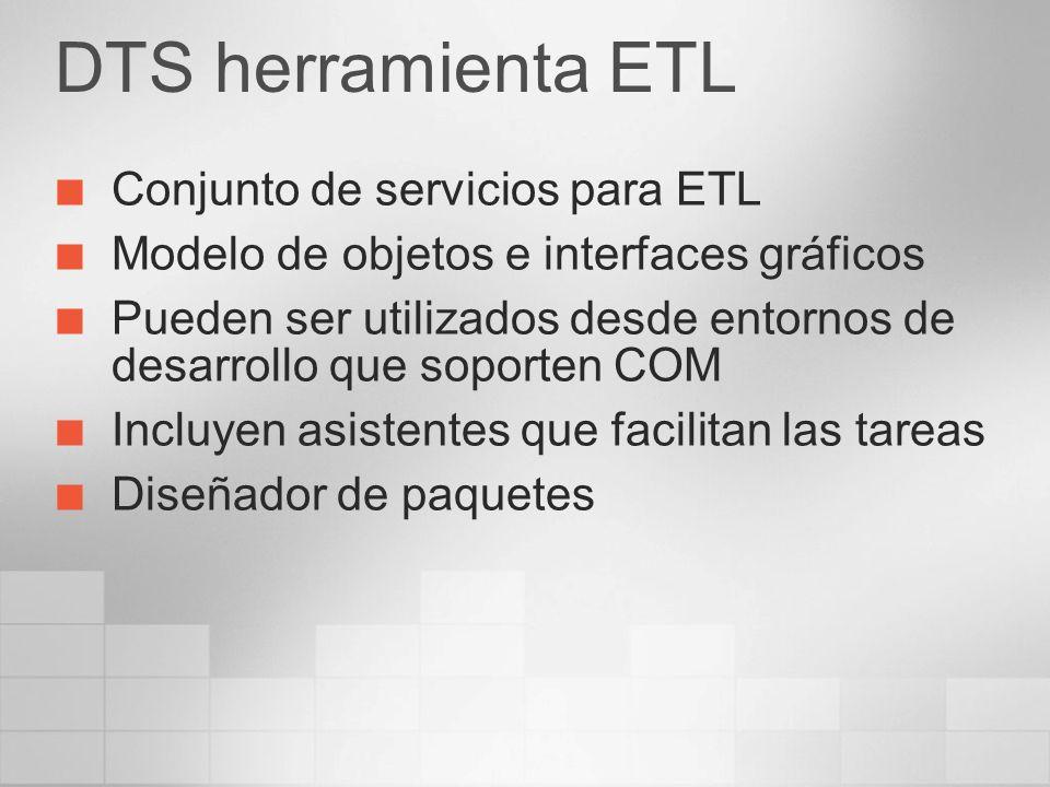 DTS herramienta ETL Conjunto de servicios para ETL