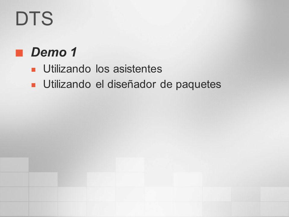 DTS Demo 1 Utilizando los asistentes