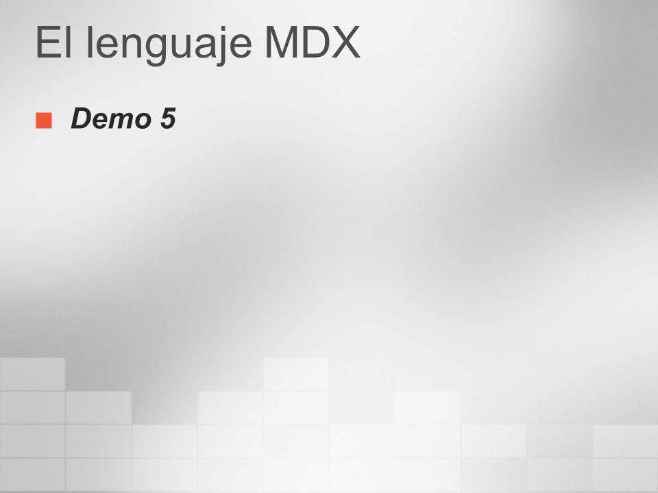 El lenguaje MDX Demo 5 3/24/2017 4:00 PM
