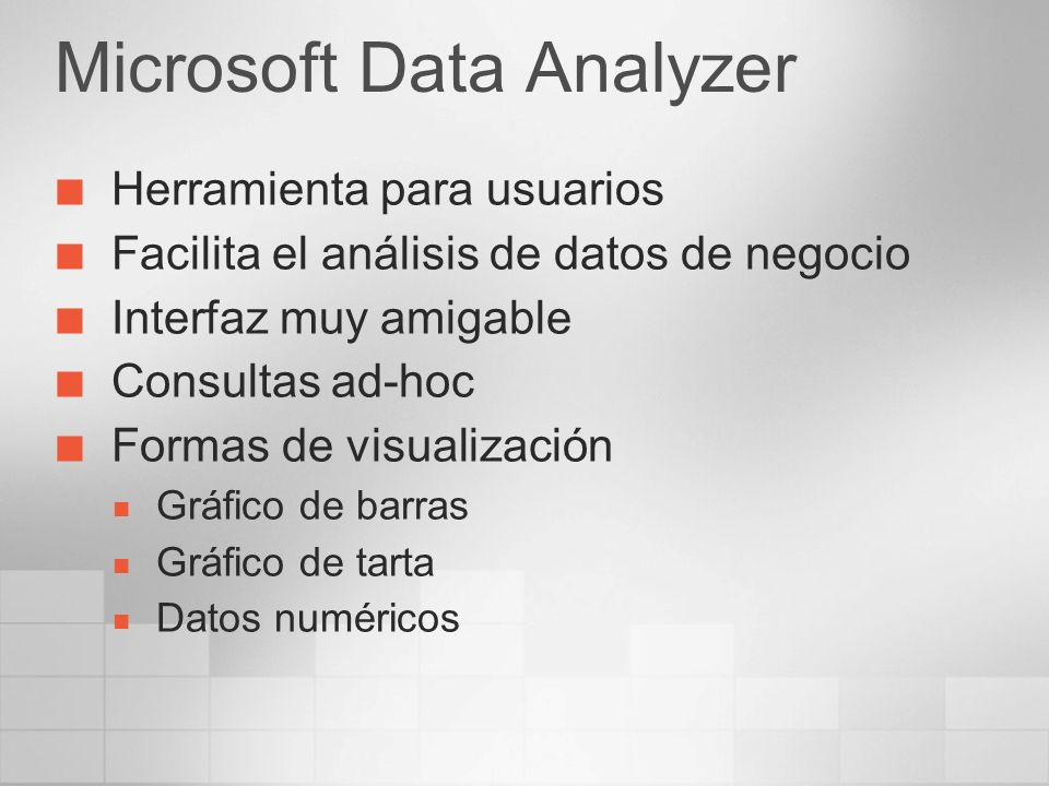 Microsoft Data Analyzer