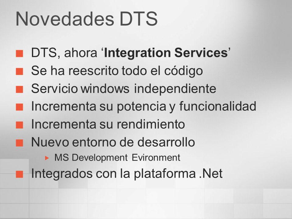 Novedades DTS DTS, ahora 'Integration Services'