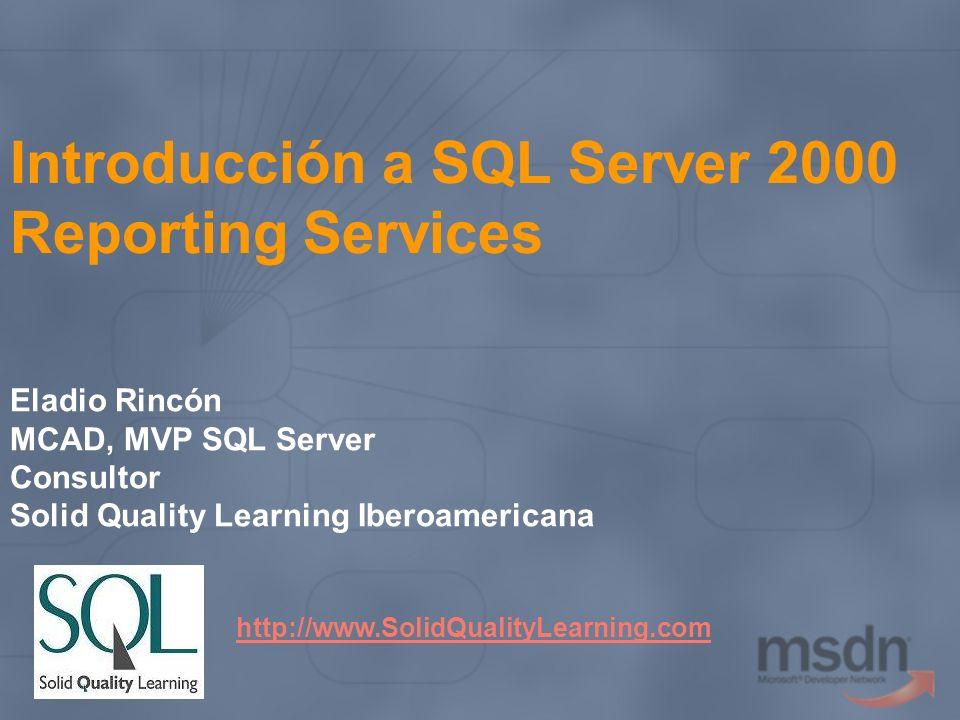 Introducción a SQL Server 2000 Reporting Services