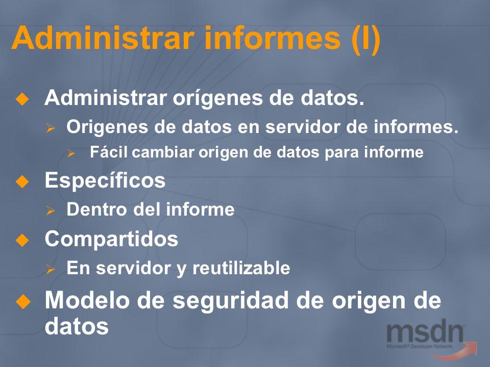 Administrar informes (I)