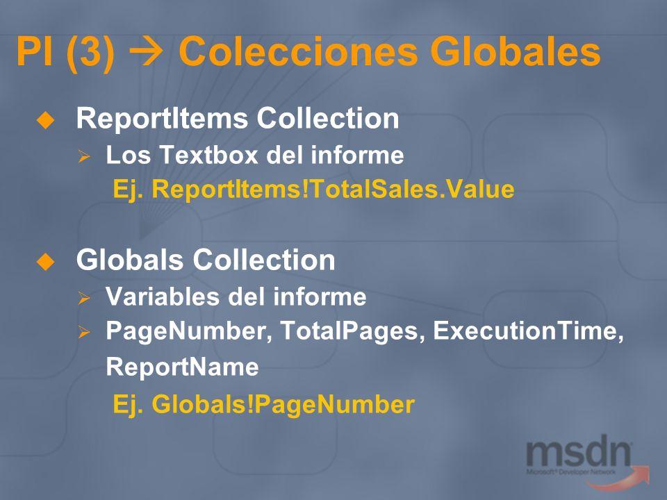 PI (3)  Colecciones Globales
