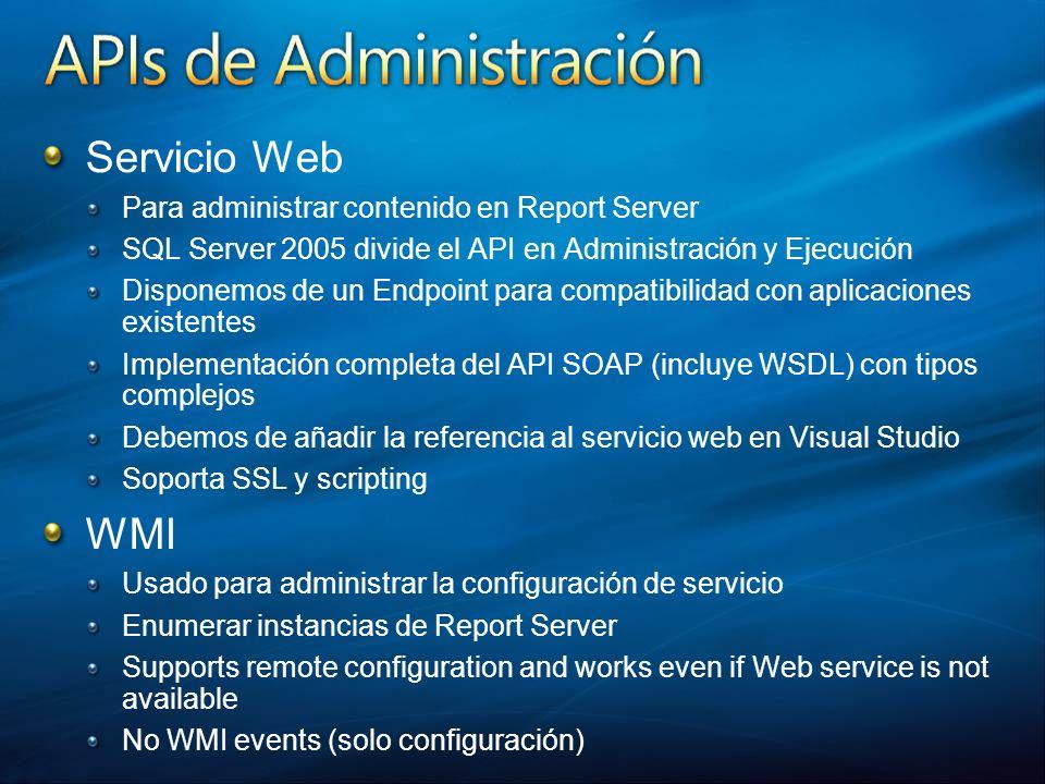 Servicio Web WMI Para administrar contenido en Report Server