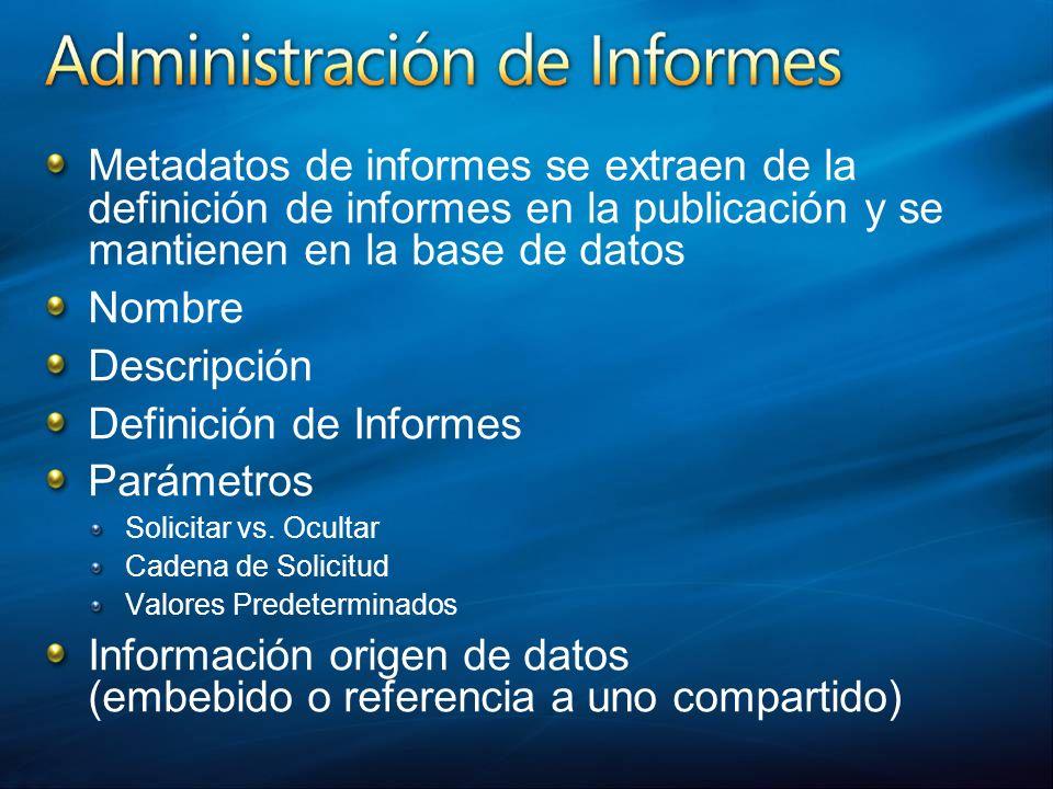 Definición de Informes Parámetros