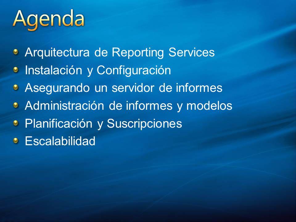 Arquitectura de Reporting Services Instalación y Configuración
