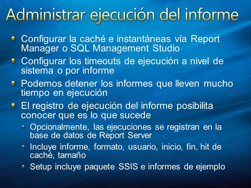 Configurar los timeouts de ejecución a nivel de sistema o por informe