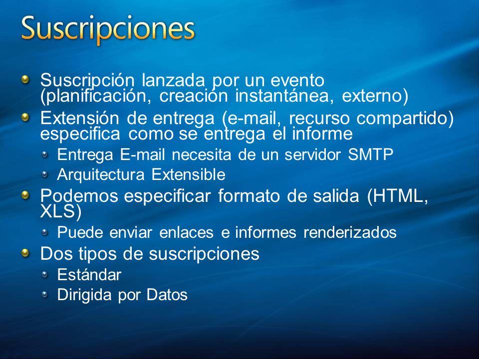 Podemos especificar formato de salida (HTML, XLS)