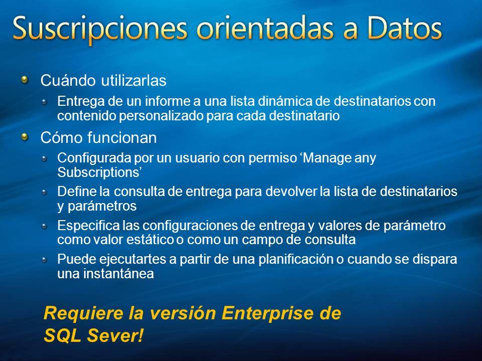 Requiere la versión Enterprise de SQL Sever!