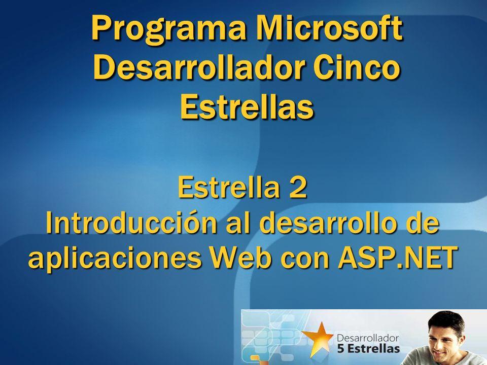 Estrella 2 Introducción al desarrollo de aplicaciones Web con ASP.NET