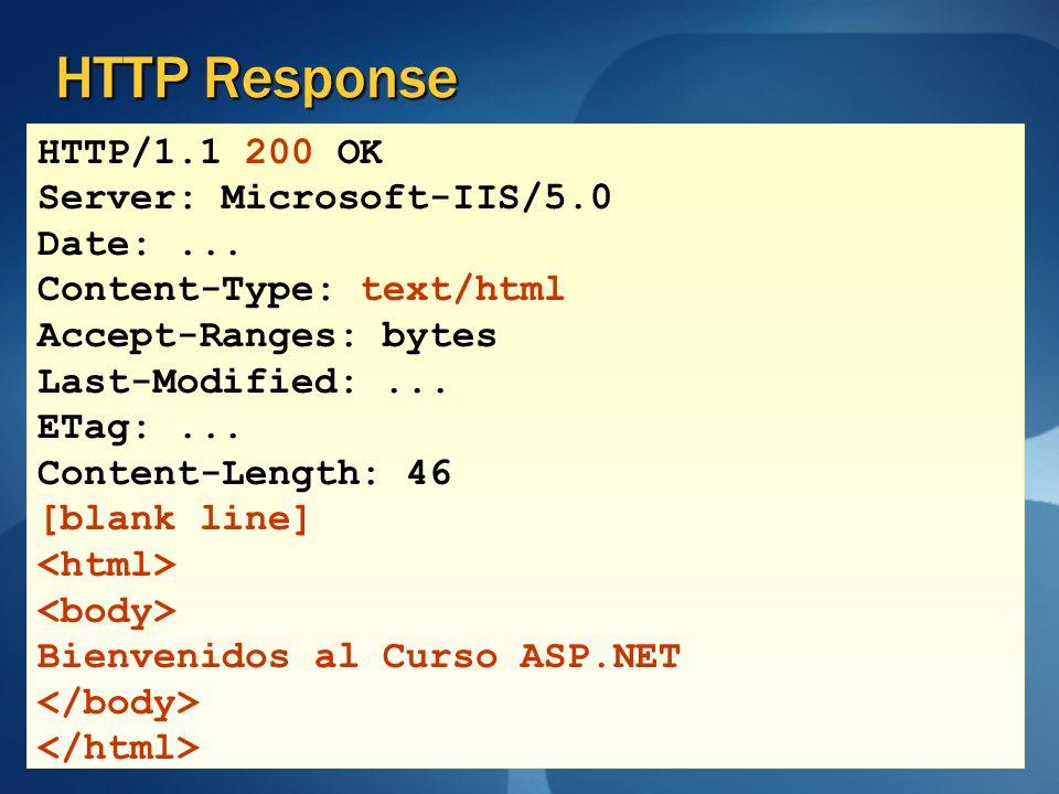 HTTP Response HTTP/1.1 200 OK Server: Microsoft-IIS/5.0 Date: ...