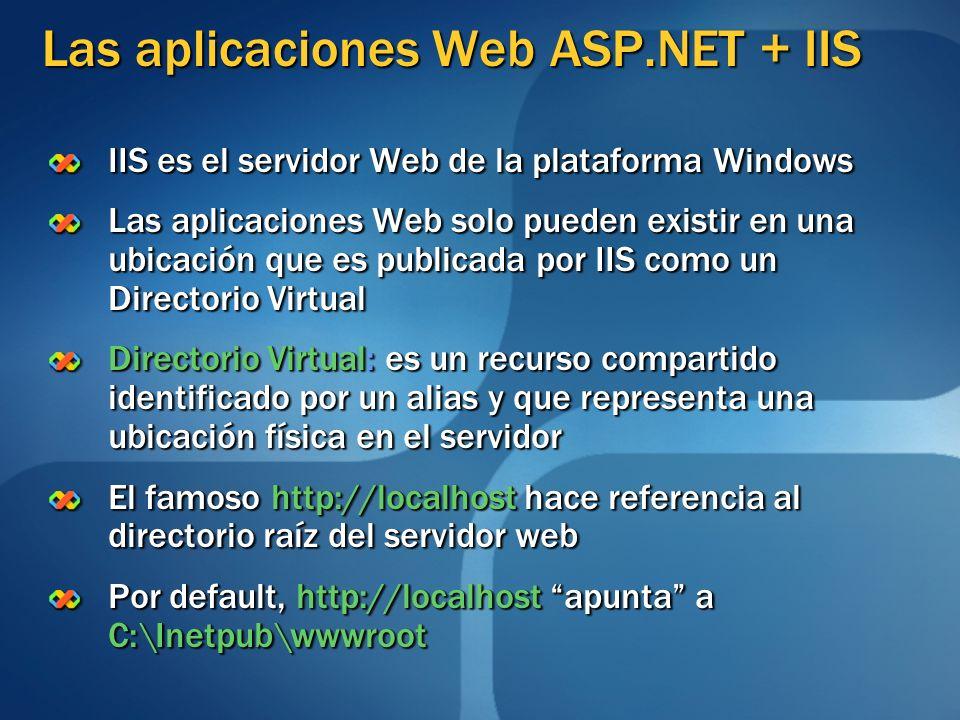 Las aplicaciones Web ASP.NET + IIS