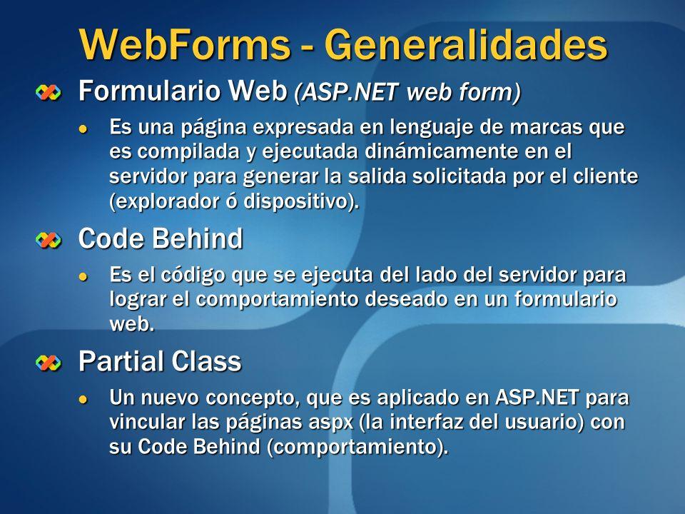 WebForms - Generalidades