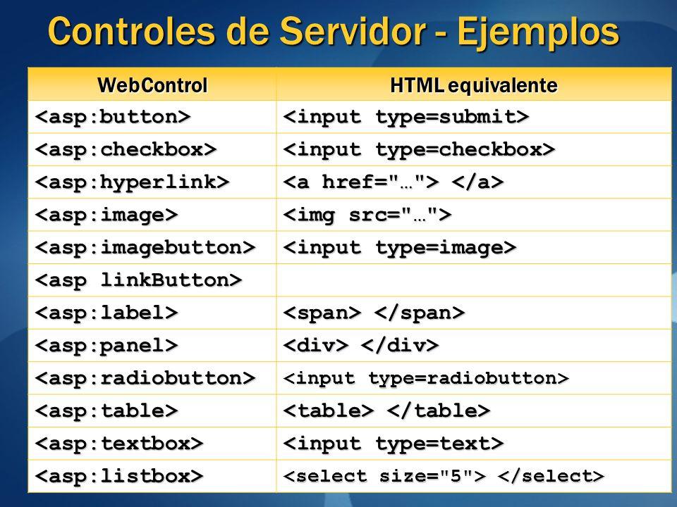 Controles de Servidor - Ejemplos