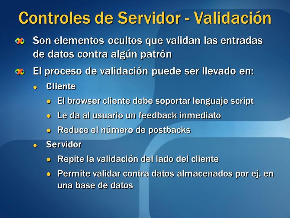 Controles de Servidor - Validación