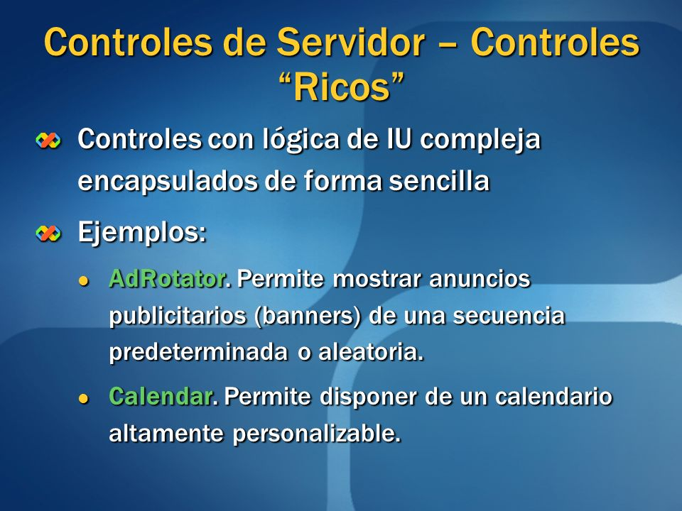 Controles de Servidor – Controles Ricos