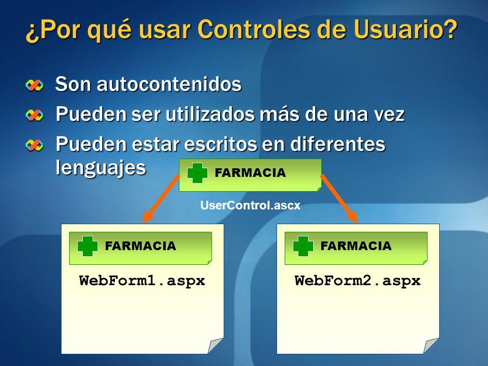 ¿Por qué usar Controles de Usuario