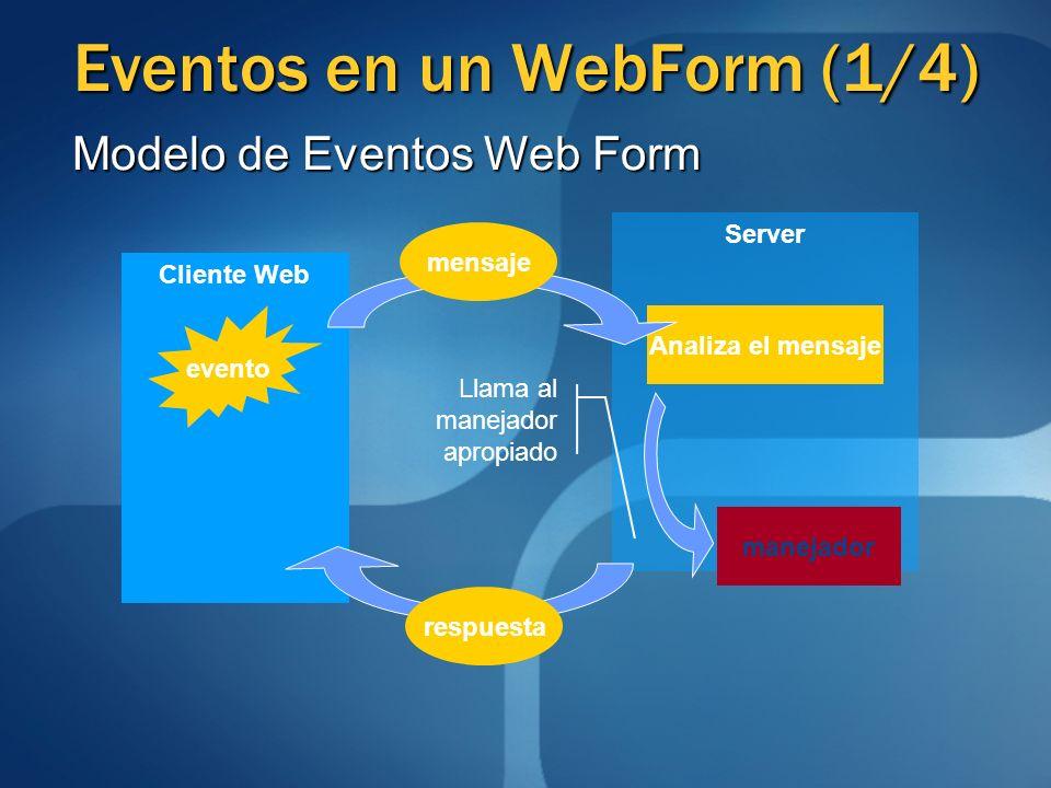 Eventos en un WebForm (1/4)