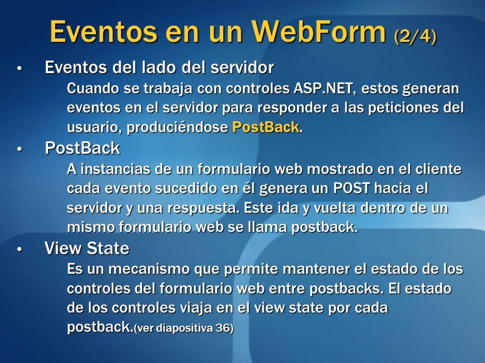 Eventos en un WebForm (2/4)