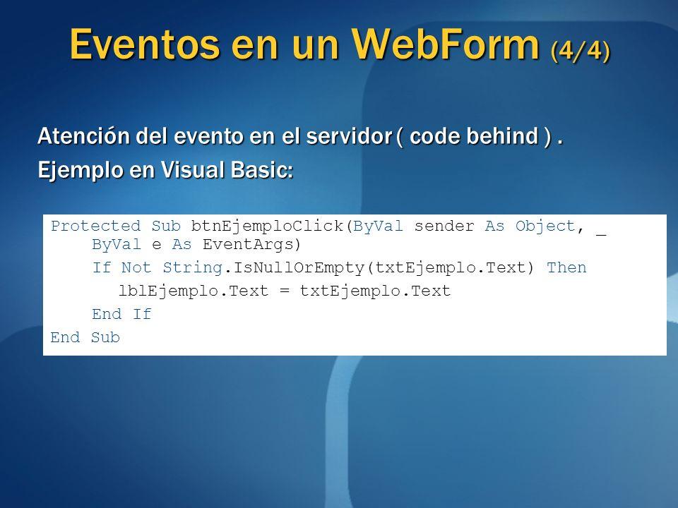 Eventos en un WebForm (4/4)