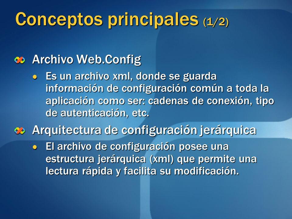 Conceptos principales (1/2)