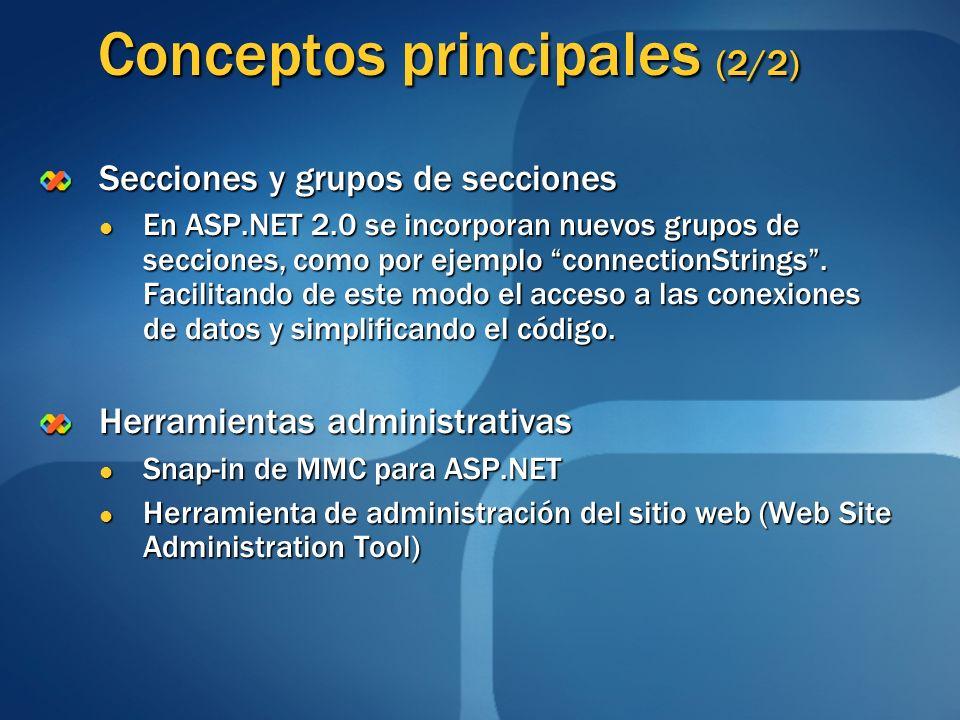 Conceptos principales (2/2)