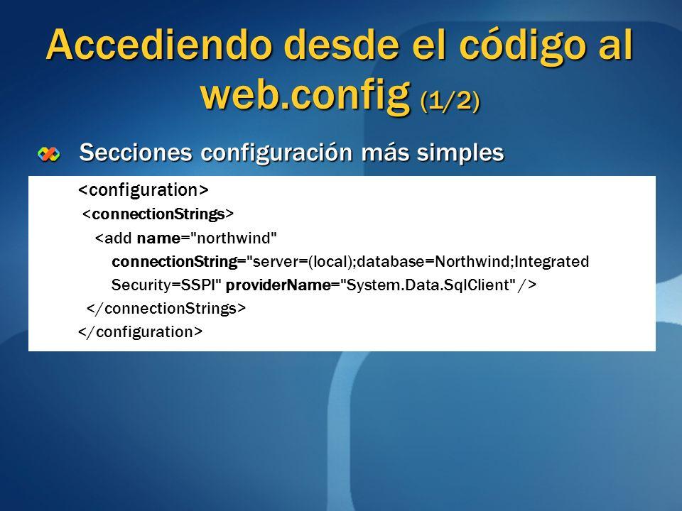 Accediendo desde el código al web.config (1/2)
