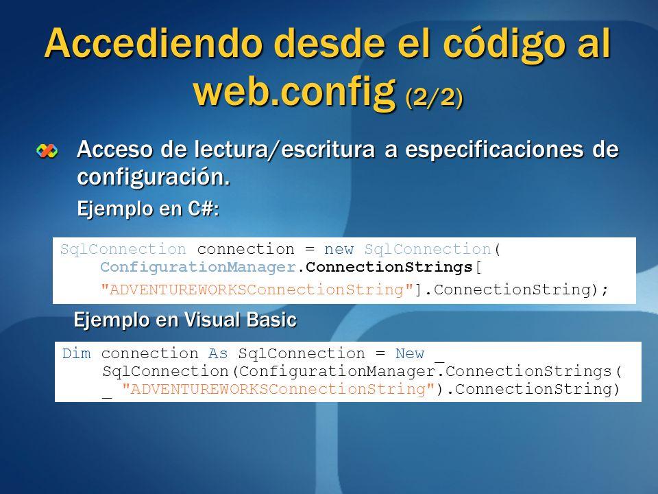 Accediendo desde el código al web.config (2/2)