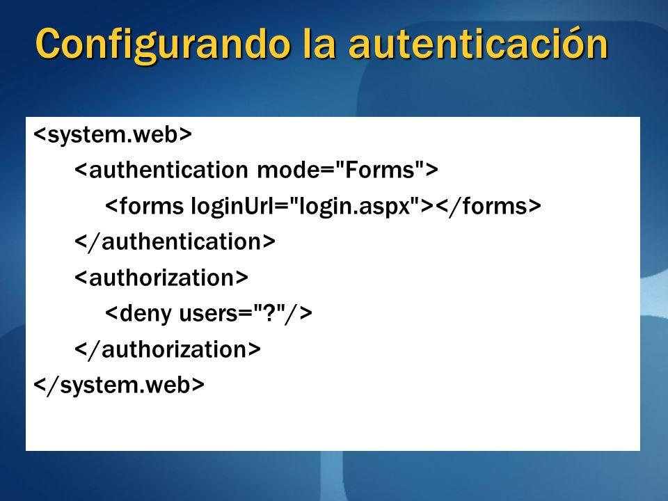 Configurando la autenticación