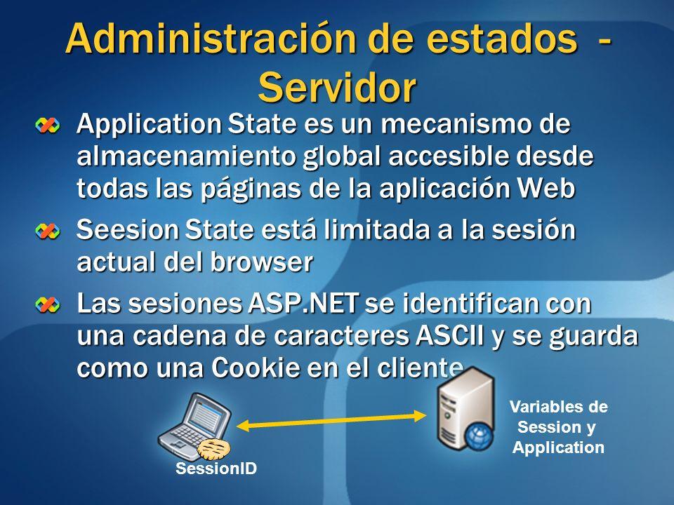 Administración de estados - Servidor