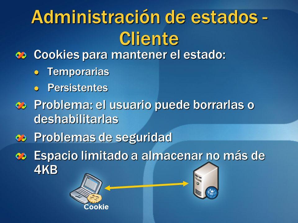 Administración de estados - Cliente