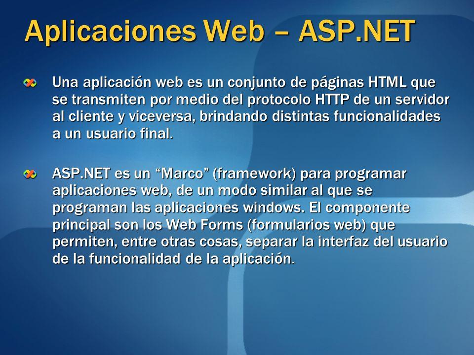 Aplicaciones Web – ASP.NET
