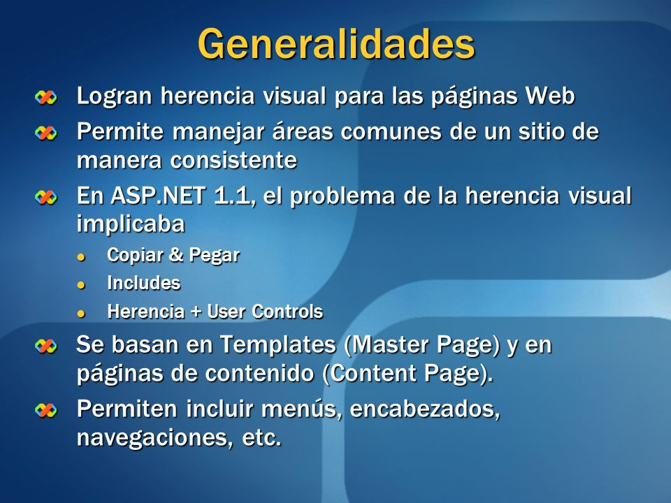 Generalidades Logran herencia visual para las páginas Web
