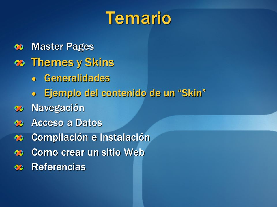 Temario Themes y Skins Master Pages Generalidades