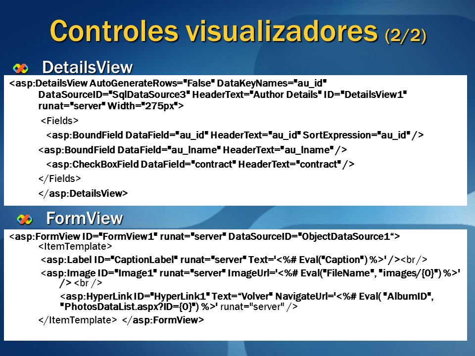 Controles visualizadores (2/2)