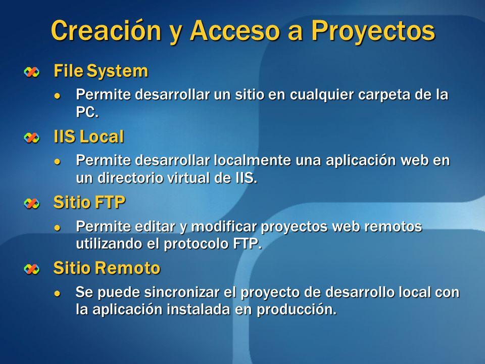 Creación y Acceso a Proyectos