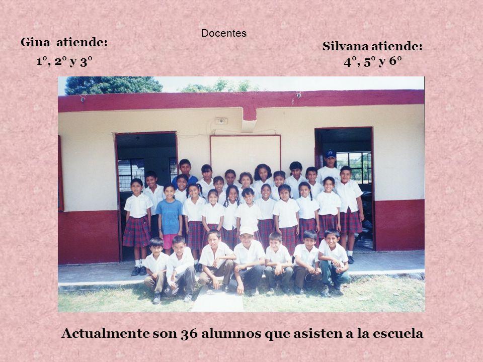Actualmente son 36 alumnos que asisten a la escuela