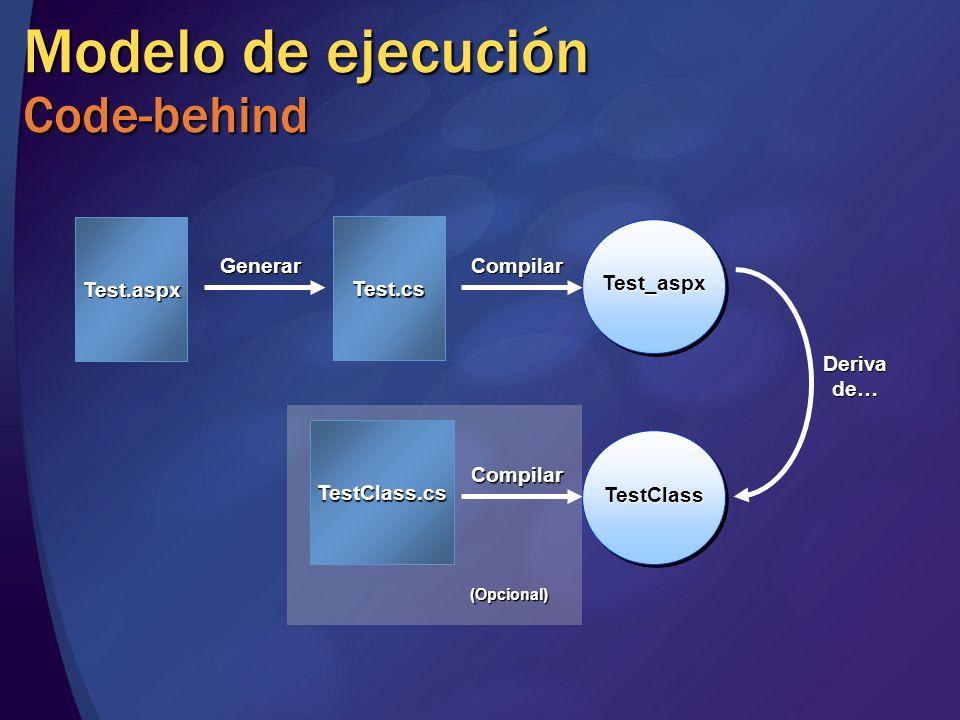 Modelo de ejecución Code-behind