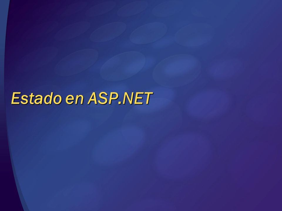 Estado en ASP.NET © 2004 Microsoft Corporation. All rights reserved.