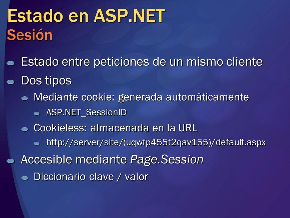 Estado en ASP.NET Sesión