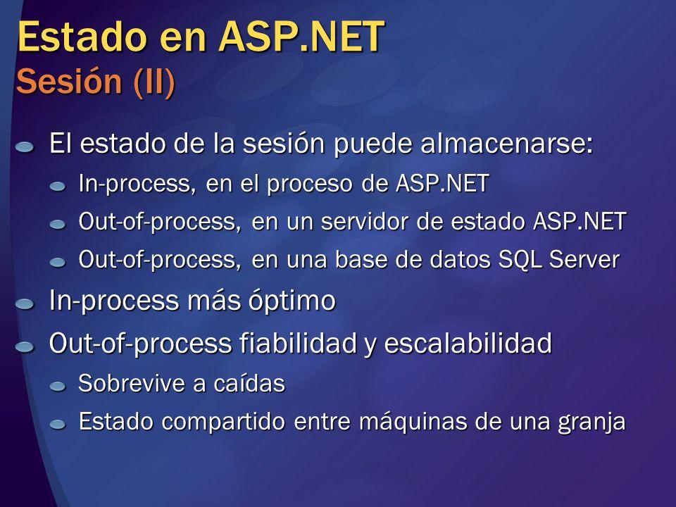 Estado en ASP.NET Sesión (II)