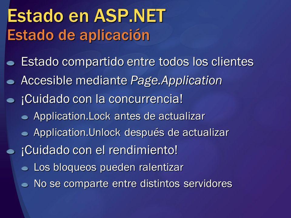 Estado en ASP.NET Estado de aplicación