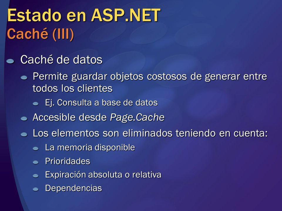Estado en ASP.NET Caché (III)