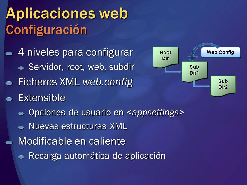 Aplicaciones web Configuración