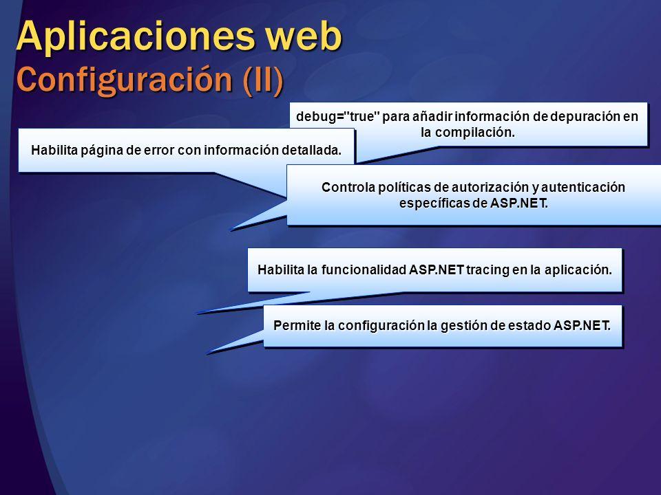 Aplicaciones web Configuración (II)