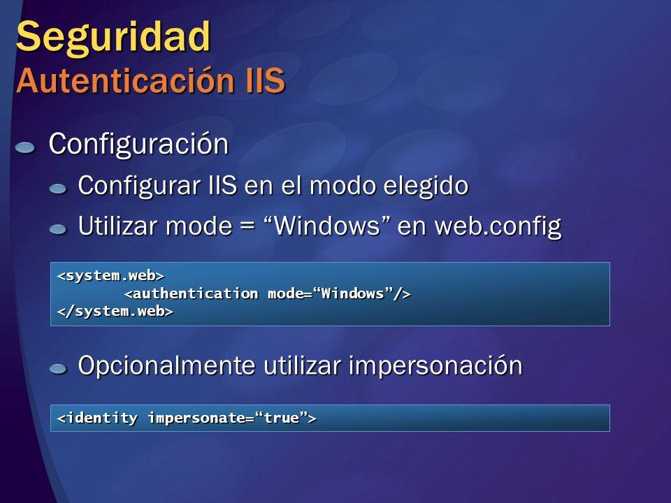 Seguridad Autenticación IIS